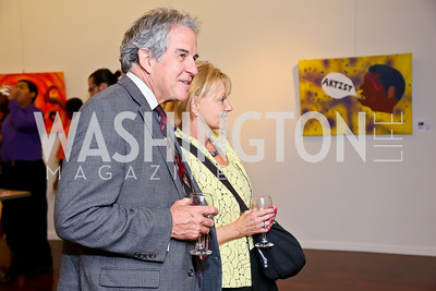 "Chris and Carole Kerns. Photo by Tony Powell. ""Courage on Canvas"" Exhibit Opening. Pepco Edison Place Gallery-2.JPG"