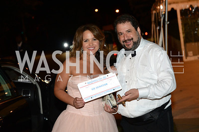 Paul Strauss, Christine O'Donnell, White House Correspondents' Dinner Afterparty hosted by MSNBC.  Red Carpet at the Italian Embassy. Saturday April 27, 2013.  Photo by Ben Droz.