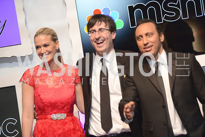 John Oliver, Aasif Mandiv, White House Correspondents' Dinner Afterparty hosted by MSNBC.  Red Carpet at the Italian Embassy. Saturday April 27, 2013.  Photo by Ben Droz.