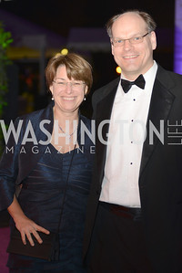 Senator Amy Klobuchar, White House Correspondents' Dinner Afterparty hosted by MSNBC.  Red Carpet at the Italian Embassy. Saturday April 27, 2013.  Photo by Ben Droz.