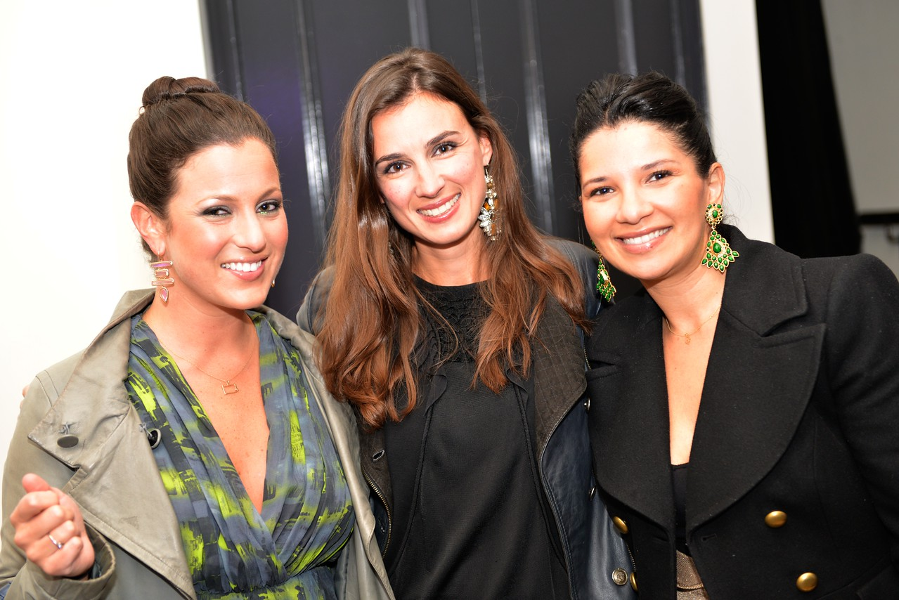 Anna Chaley Croll, Anais de Viel Castel, Amal Zaari, Malmaison Restaurant, part of the opens in Georgetown.  October 15, 2013.  Photo by Ben Droz.