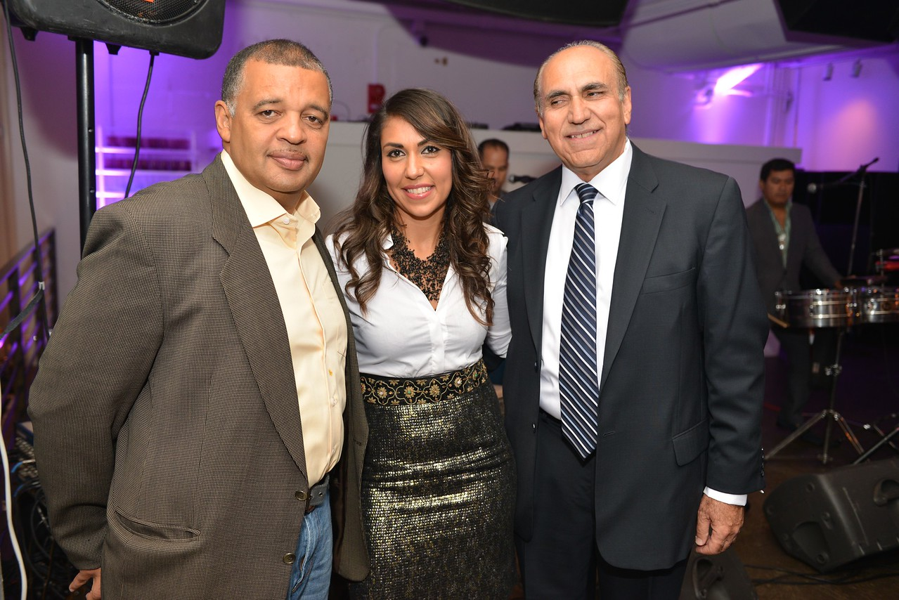 Commander Mike Reese, Fatima Popal, Zubair Popal, Malmaison Restaurant, part of the opens in Georgetown.  October 15, 2013.  Photo by Ben Droz.