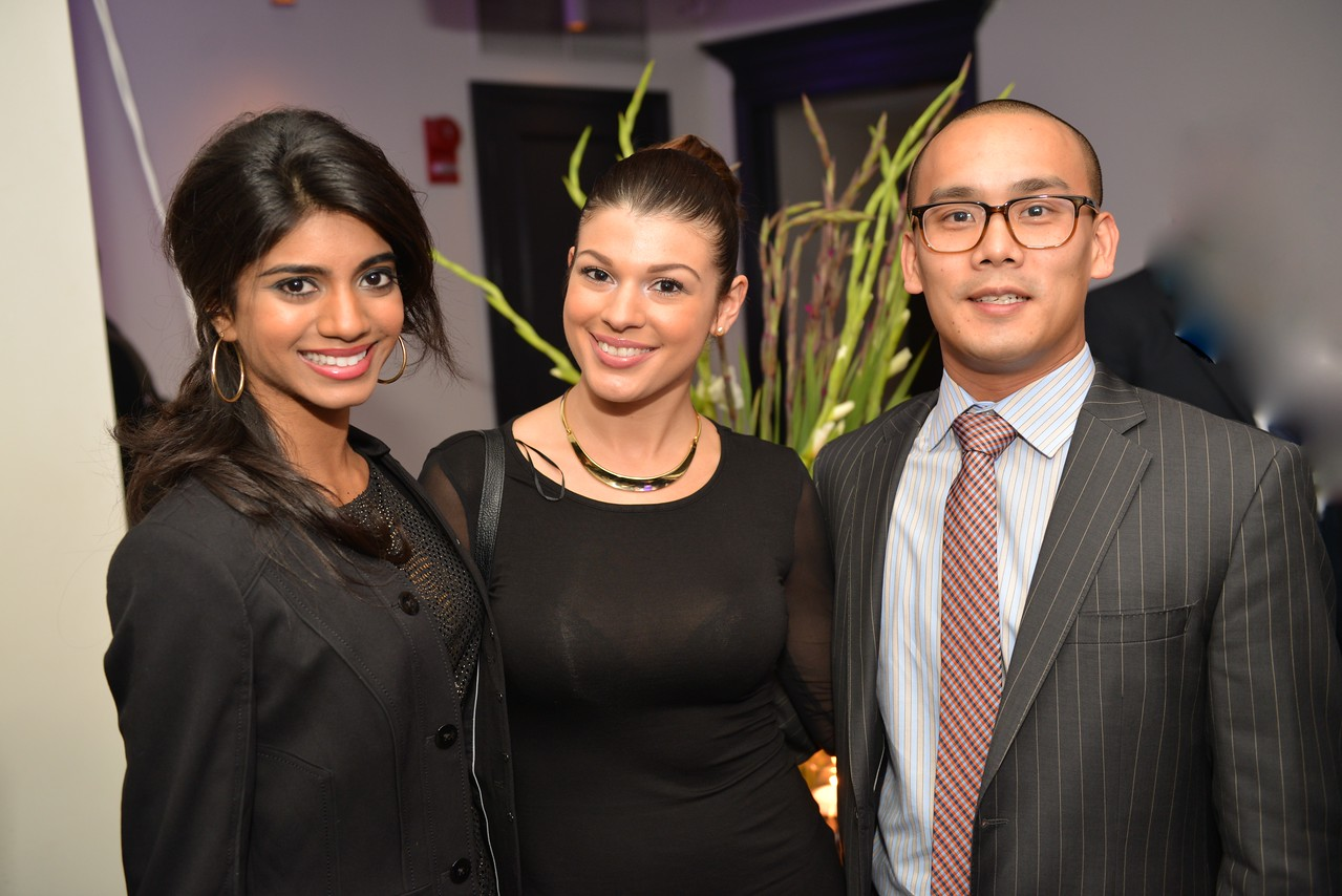 Bindhu Pamarthi, Lydia Acosta, Burton Tu, Malmaison Restaurant, part of the opens in Georgetown.  October 15, 2013.  Photo by Ben Droz.