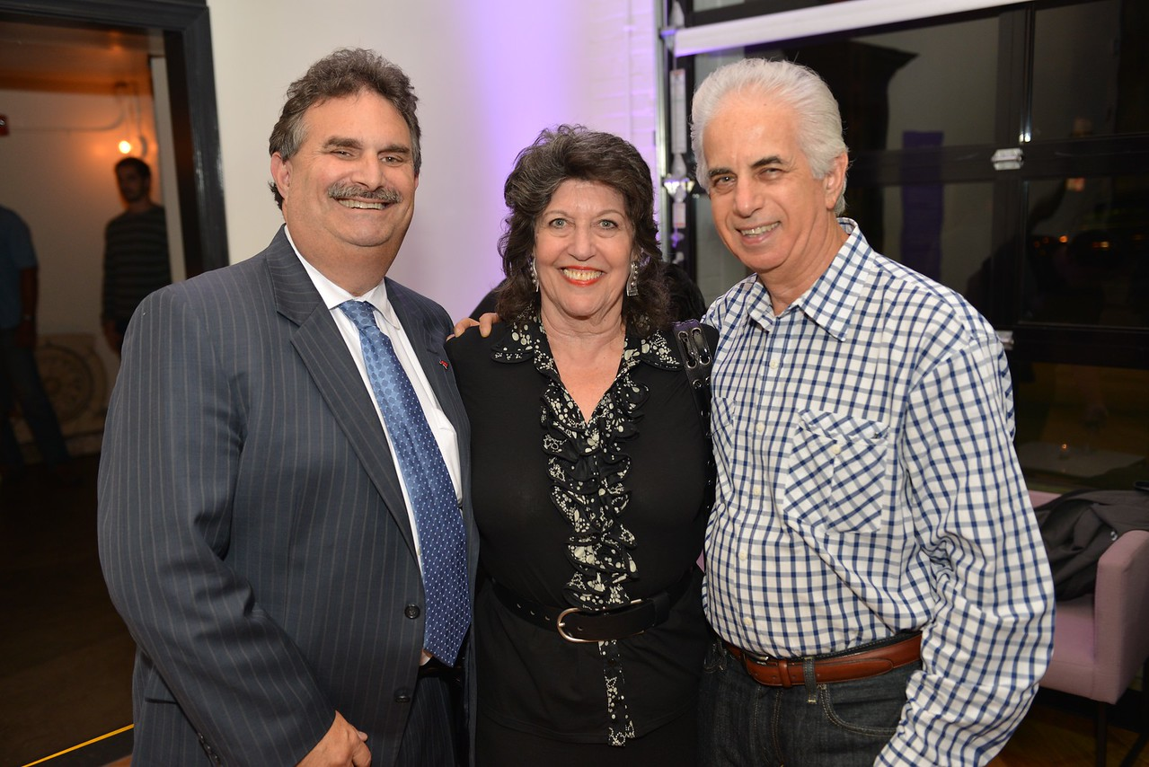 Bill Starvels, Carol Schwartz, Ed Solomon, Malmaison Restaurant, part of the opens in Georgetown.  October 15, 2013.  Photo by Ben Droz.
