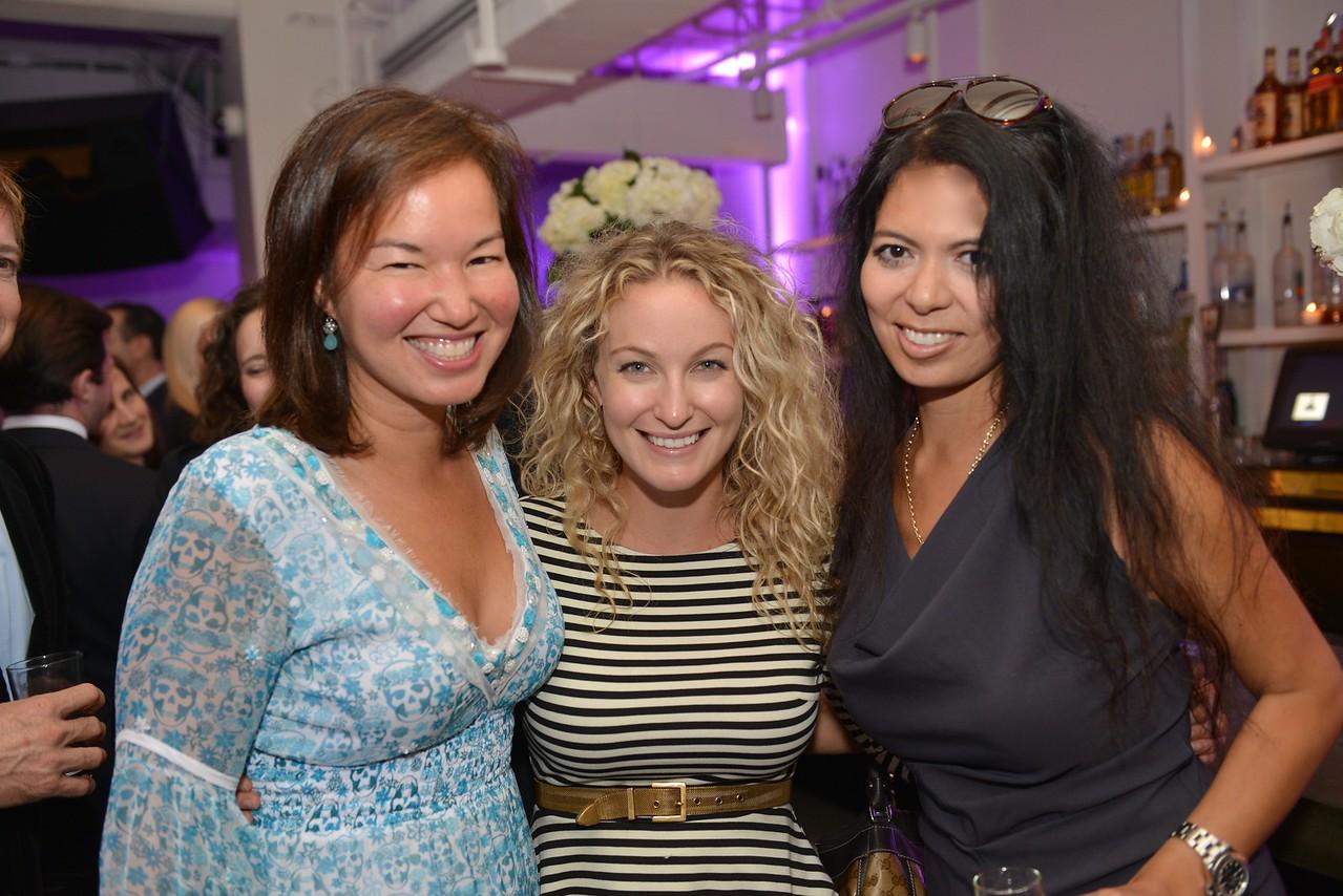 Philippa Hughes, Lia Seremetis, Christina Sevilla, Malmaison Restaurant, part of the opens in Georgetown.  October 15, 2013.  Photo by Ben Droz.