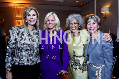 Jane Cafritz, Admiral Susan Blumenthal, Afaf Meleis, Patience O'Connor. Photo by Tony Powell. Marie Curie Charity Gala 2013. Ritz Carlton. October 29, 2013
