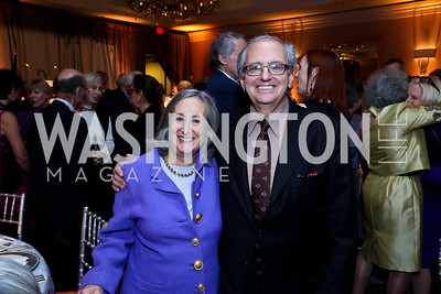 Judy Harris, Norm Ornstein. Photo by Tony Powell. Marie Curie Charity Gala 2013. Ritz Carlton. October 29, 2013
