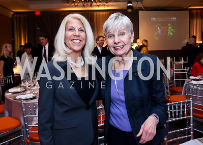 Kandie Stroud, Eleanor Clift. Photo by Tony Powell. Marie Curie Charity Gala 2013. Ritz Carlton. October 29, 2013