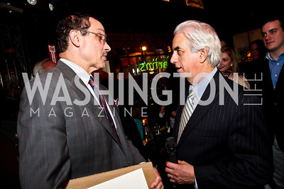 Mayor Vincent Gray, Ed Solomon. Photo by Tony Powell. 80th Anniversary of Martin's Tavern. April 3, 2013