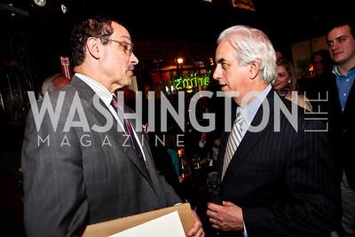 Mayor Vincent Gray, Ed Solomon. Photo by Tony Powell. 80th Anniversary of Martin's Tavern. April 3, 2013