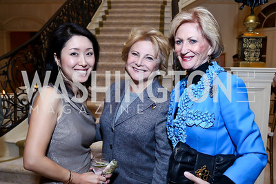 Christina Shin, Mary Mochary, Maggie Shannon. Photo by Tony Powell. An Evening to Benefit Innocents at Risk. Estrin Residence. October 24, 2013