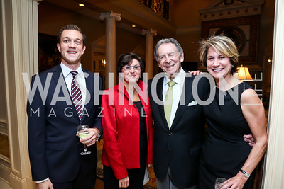 Eric Malis, Emma Mamevich, Irwin and Ginny Edlavitch. Photo by Tony Powell. An Evening to Benefit Innocents at Risk. Estrin Residence. October 24, 2013