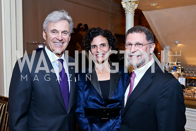 Stuart Bernstein, Amy and Rabbi Bruce Lustig. Photo by Tony Powell. An Evening to Benefit Innocents at Risk. Estrin Residence. October 24, 2013