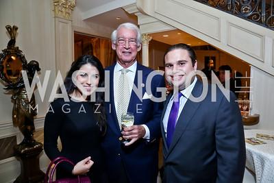 Natalie Grigorian, Gen. Steve Friedlander, Wright Sigmund. Photo by Tony Powell. An Evening to Benefit Innocents at Risk. Estrin Residence.JPG