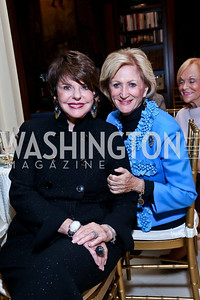 Marlene Malek, Maggie Shannon. Photo by Tony Powell. An Evening to Benefit Innocents at Risk. Estrin Residence. October 24, 2013
