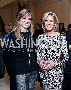 Caroline Faris, Allison White. Photo by Tony Powell. An Evening to Benefit Innocents at Risk. Estrin Residence. October 24, 2013
