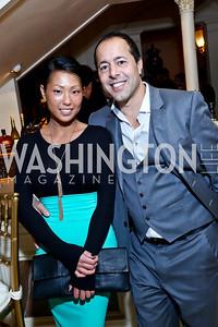 Christina Chan, Alan Popovsky. Photo by Tony Powell. An Evening to Benefit Innocents at Risk. Estrin Residence. October 24, 2013