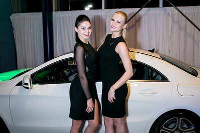 Oksana Shevchuk, Aleksandra Boreche. Photo by Alfredo Flores. Mercedes-Benz CLA Launch. Mercedes-Benz of Arlington. October 3, 2013