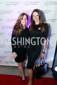 Katelyn Gimbel, Jana Sedlakova. Photo by Alfredo Flores. Mercedes-Benz CLA Launch. Mercedes-Benz of Arlington. October 3, 2013