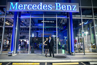 Maria Briskman, Vladimir Rodzyanko. Photo by Alfredo Flores. Mercedes-Benz CLA Launch. Mercedes-Benz of Arlington. October 3, 2013