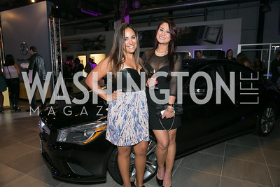 Tiffany Anzalone, Mim Luangray. Photo by Alfredo Flores. Mercedes-Benz CLA Launch. Mercedes-Benz of Arlington. October 3, 2013.