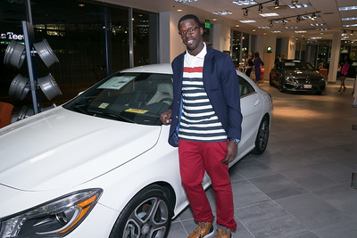 Josh Morgan. Photo by Alfredo Flores. Mercedes-Benz CLA Launch. Mercedes-Benz of Arlington. October 3, 2013.