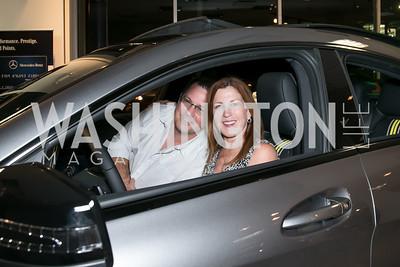 David Smutny, Kathleen Benway. Photo by Alfredo Flores. Mercedes-Benz CLA Launch. Mercedes-Benz of Arlington. October 3, 2013