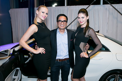 Oksana Shevchuk, Walter Grio, Aleksandra Boreche. Photo by Alfredo Flores. Mercedes-Benz CLA Launch. Mercedes-Benz of Arlington. October 3, 2013