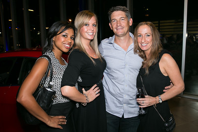 Jacquette Johnson, Amber Vick, Steve O'Shea, Brynna McCosker. Photo by Alfredo Flores. Mercedes-Benz CLA Launch. Mercedes-Benz of Arlington. October 3, 2013.jpg