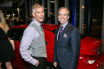Mark Guenther, Ernesto Santalla. Photo by Alfredo Flores. Mercedes-Benz CLA Launch. Mercedes-Benz of Arlington. October 3, 2013.