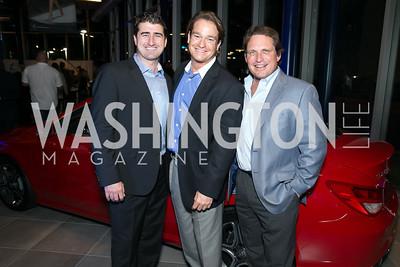 Garrett O'Shea, Brad Nierenberg, William Brower. Photo by Alfredo Flores. Mercedes-Benz CLA Launch. Mercedes-Benz of Arlington. October 3, 2013.