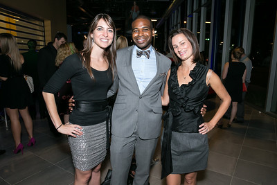 Chelsea Oudin, Ashton Randle, Monica Farrow. Photo by Alfredo Flores. Mercedes-Benz CLA Launch. Mercedes-Benz of Arlington. October 3, 2013.CR2