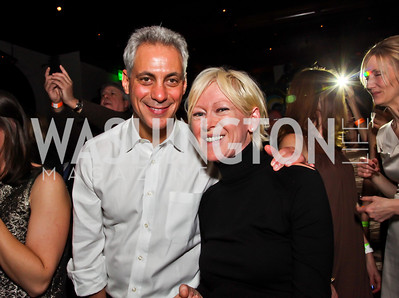 Mayor Rahm Emanuel, Cosmopolitan Magazine Editor-in-Chief Joanna Coles. Photo by Tony Powell. Midnight Down Under. The Hamilton. January 21, 2013
