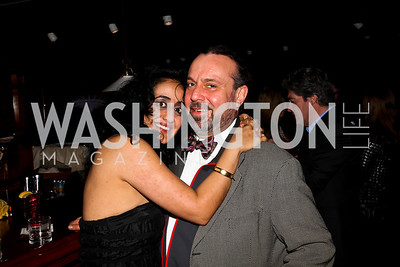 Roshanak Ameli-Tehrani, Bruce Kieloch.  Photo by Tony Powell. Midnight Down Under. The Hamilton. January 21, 2013