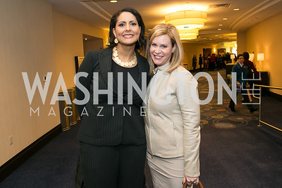 Karen Finney, Stephanie Cutter. Photo by Alfredo Flores. NARAL Pro-Choice America's Roe v. Wade 40th Anniversary Dinner. Hilton Washington Hotel. February 5, 2013