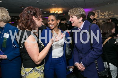 Ilyse Hogue, Rep. Donna Edwards, Mary Kay Henry. Photo by Alfredo Flores. NARAL Pro-Choice America's Roe v. Wade 40th Anniversary Dinner. Hilton Washington Hotel. February 5, 2013