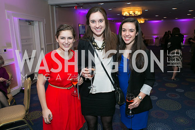Haylie Jacobson, Lanier Hagerty, Laura Naretsky. Photo by Alfredo Flores. NARAL Pro-Choice America's Roe v. Wade 40th Anniversary Dinner. Hilton Washington Hotel. February 5, 2013