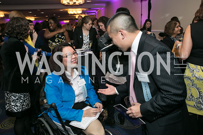 Rep. Tammy Duckworth, Clarence Lam. Photo by Alfredo Flores. NARAL Pro-Choice America's Roe v. Wade 40th Anniversary Dinner. Hilton Washington Hotel. February 5, 2013