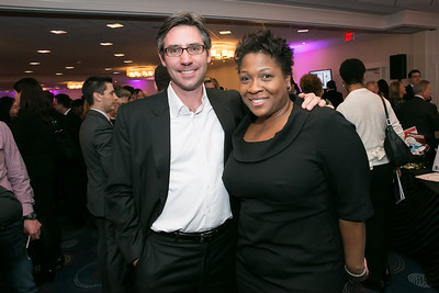 Matt Butler, Jehmu Green. Photo by Alfredo Flores. NARAL Pro-Choice America's Roe v. Wade 40th Anniversary Dinner. Hilton Washington Hotel. February 5, 2013