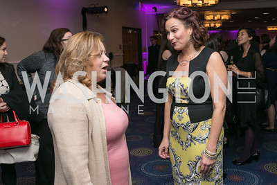 Rep. Linda Sanchez, Ilyse Hogue. Photo by Alfredo Flores. NARAL Pro-Choice America's Roe v. Wade 40th Anniversary Dinner. Hilton Washington Hotel. February 5, 2013