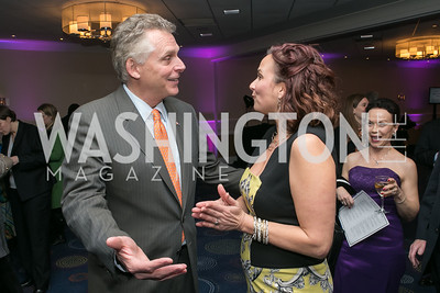 Terry McAuliffe, Ilyse Hogue. Photo by Alfredo Flores. NARAL Pro-Choice America's Roe v. Wade 40th Anniversary Dinner. Hilton Washington Hotel. February 5, 2013