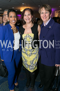 Rep. Donna Edwards, Ilyse Hogue, Mary Kay Henry. Photo by Alfredo Flores. NARAL Pro-Choice America's Roe v. Wade 40th Anniversary Dinner. Hilton Washington Hotel. February 5, 2013
