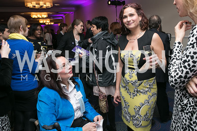 Rep. Tammy Duckworth, Ilyse Hogue. Photo by Alfredo Flores. NARAL Pro-Choice America's Roe v. Wade 40th Anniversary Dinner. Hilton Washington Hotel. February 5, 2013