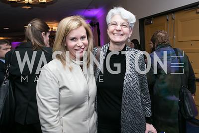 Stephanie Cutler, Marge Baker. Photo by Alfredo Flores. NARAL Pro-Choice America's Roe v. Wade 40th Anniversary Dinner. Hilton Washington Hotel. February 5, 2013