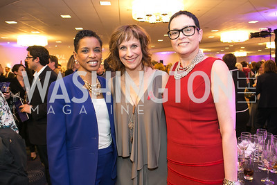 Rep. Donna Edwards, Lizz Winstead, Nancy Harkness. Photo by Alfredo Flores. NARAL Pro-Choice America's Roe v. Wade 40th Anniversary Dinner. Hilton Washington Hotel. February 5, 2013