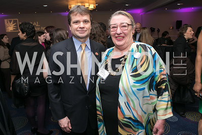 Rep. Mike Quigley, Marcie Love. Photo by Alfredo Flores. NARAL Pro-Choice America's Roe v. Wade 40th Anniversary Dinner. Hilton Washington Hotel. February 5, 2013