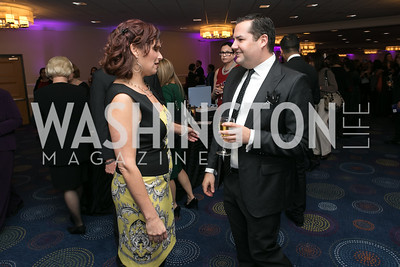 Ilyse Hogue, Ross Matthews. Photo by Alfredo Flores. NARAL Pro-Choice America's Roe v. Wade 40th Anniversary Dinner. Hilton Washington Hotel. February 5, 2013