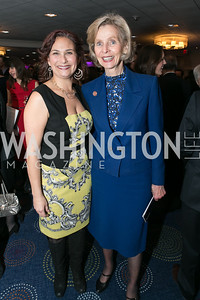 Ilyse Hogue, Rep. Lois Capps. Photo by Alfredo Flores. NARAL Pro-Choice America's Roe v. Wade 40th Anniversary Dinner. Hilton Washington Hotel. February 5, 2013