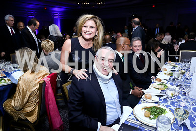 Melissa Maxfield, Leo Hindery. Photo by Tony Powell. 2013 NDI Democracy Dinner. Ritz Carlton. December 10, 2013