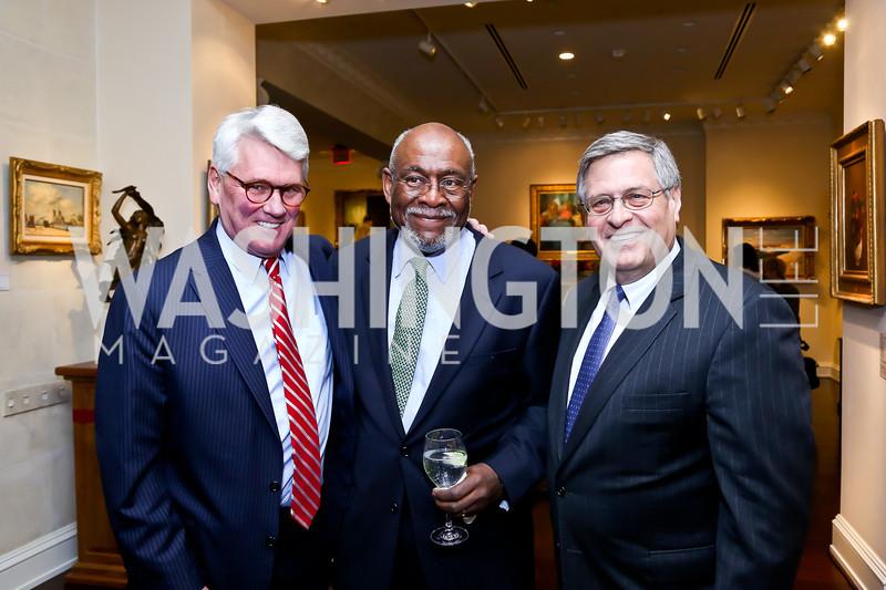 Greg Craig, Amb. Johnnie Carson, NDI President Kenneth Wollack. Photo by Tony Powell. 2013 NDI Democracy Dinner. Ritz Carlton. December 10, 2013